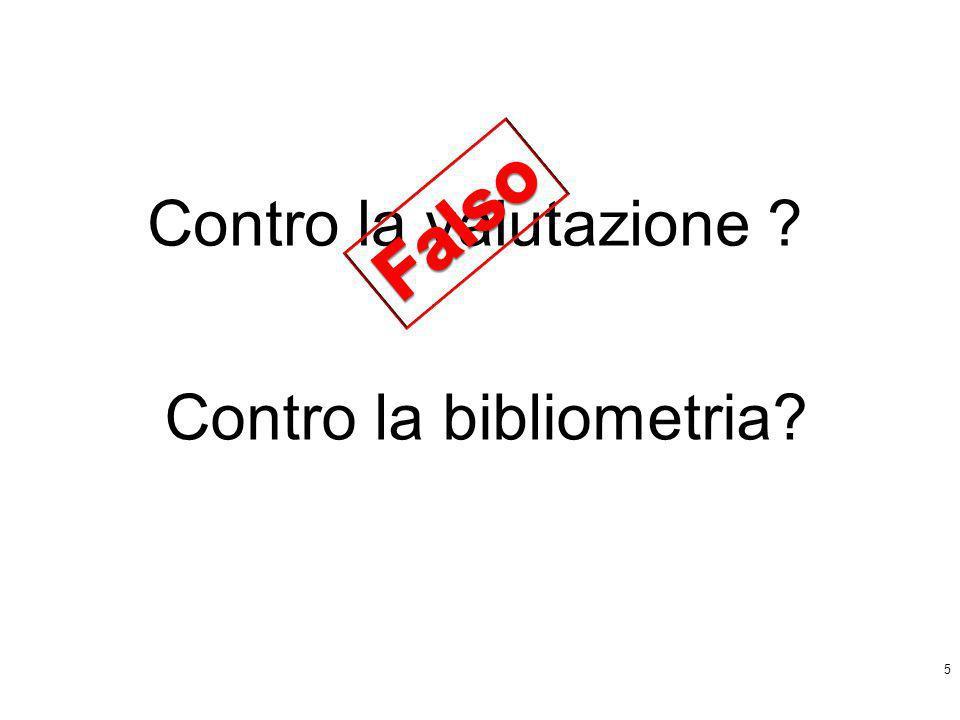 5 Contro la bibliometria?