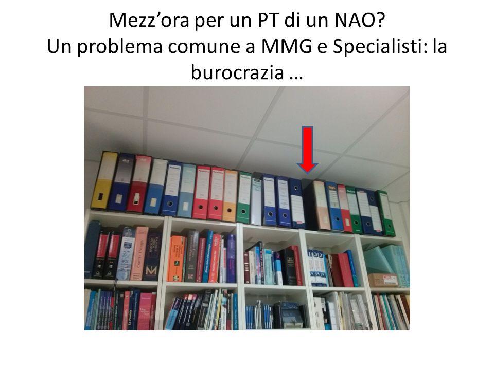 Mezzora per un PT di un NAO? Un problema comune a MMG e Specialisti: la burocrazia …