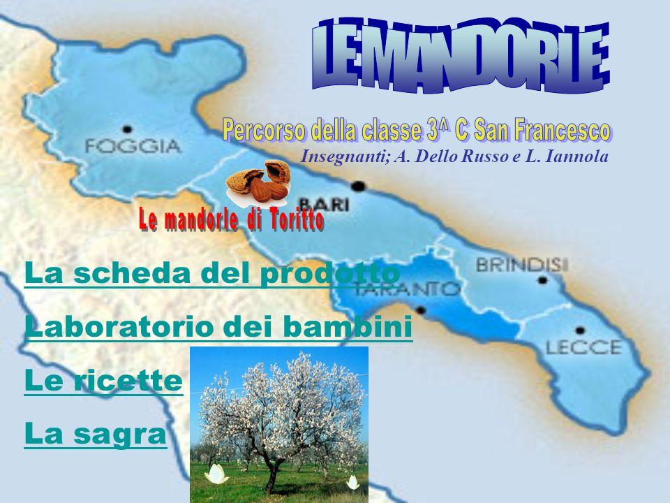 La scheda del prodotto Laboratorio dei bambini Le ricette La sagra Insegnanti; A. Dello Russo e L. Iannola