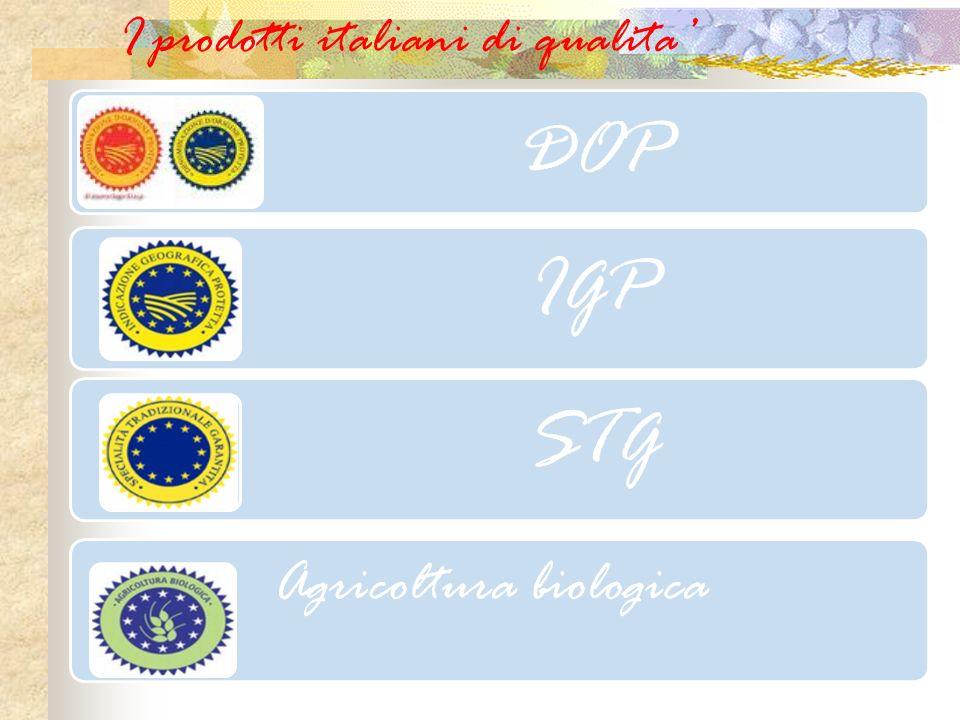 I prodotti italiani di qualita DOP IGP STG Agricoltura biologica