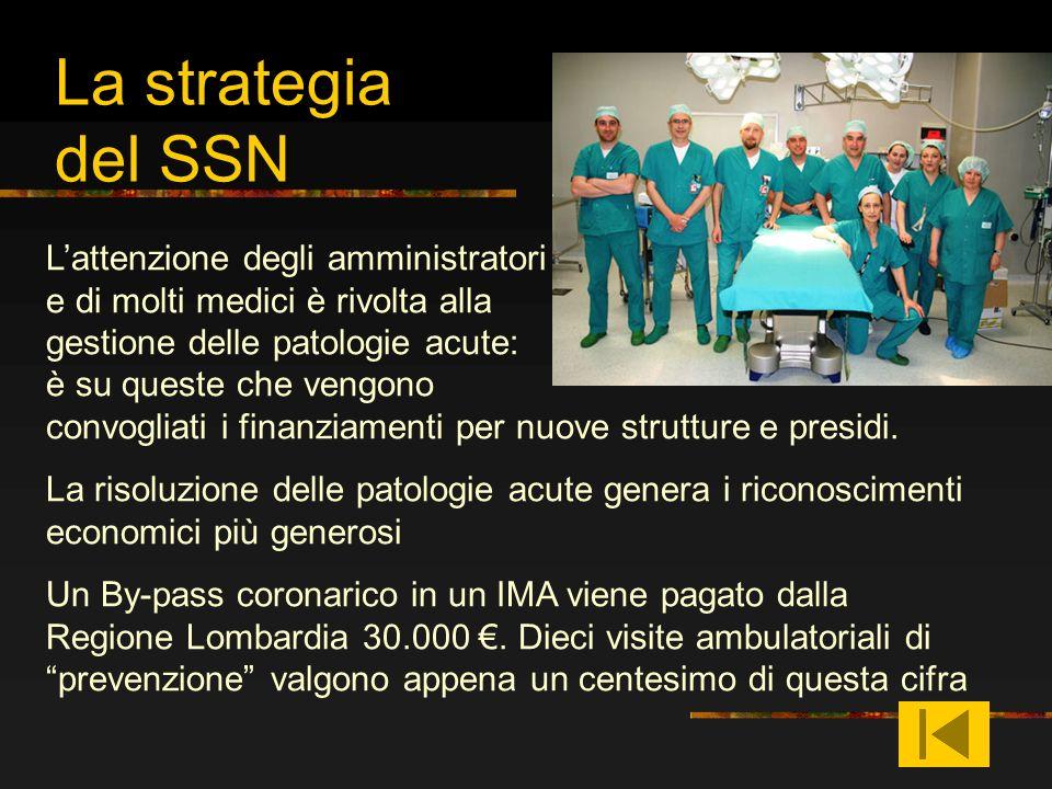 La strategia del SSN Lattenzione degli amministratori e di molti medici è rivolta alla gestione delle patologie acute: è su queste che vengono convogl