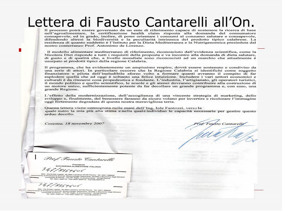 Lettera di Fausto Cantarelli allOn. Pirillo –parte II -