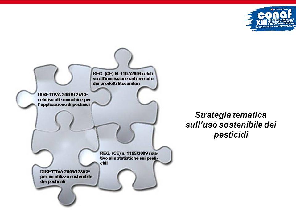 L Unione Europea con la DIRETTIVA 2009/128/CE per la prima volta interviene a regolamentare la fase dell impiego dei prodotti fitosanitari.