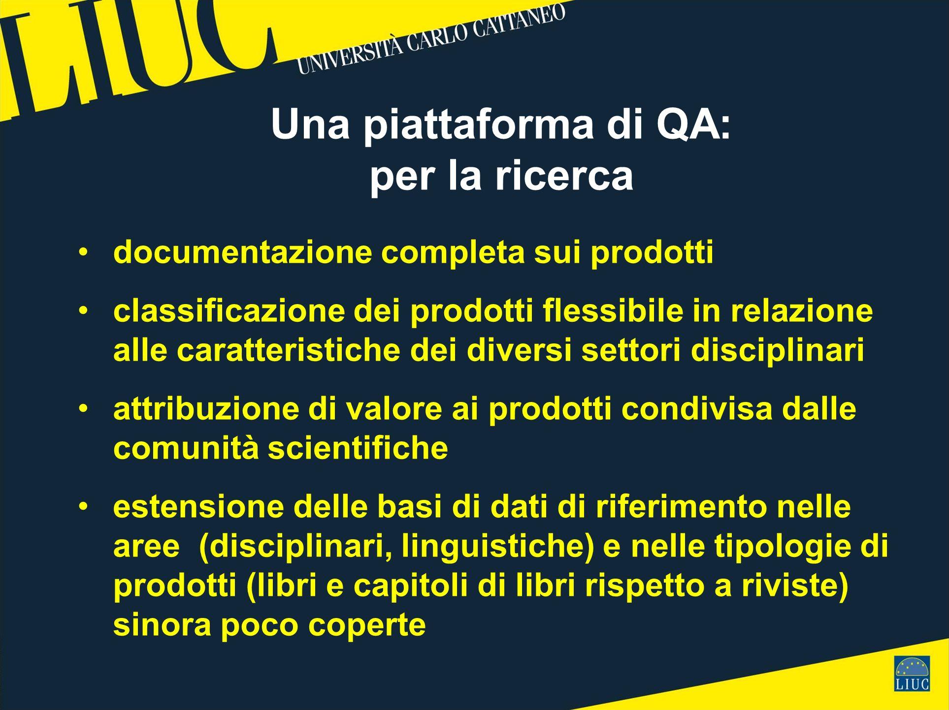 Una piattaforma di QA: per la ricerca documentazione completa sui prodotti classificazione dei prodotti flessibile in relazione alle caratteristiche d
