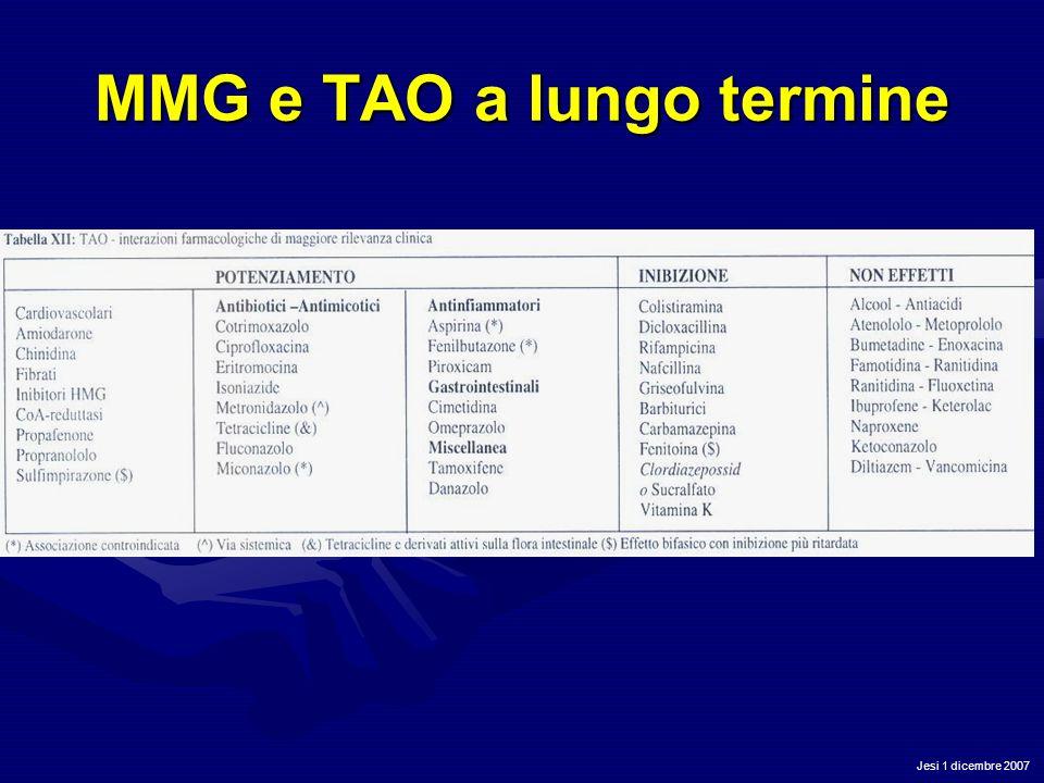 Jesi 1 dicembre 2007 MMG e TAO a lungo termine