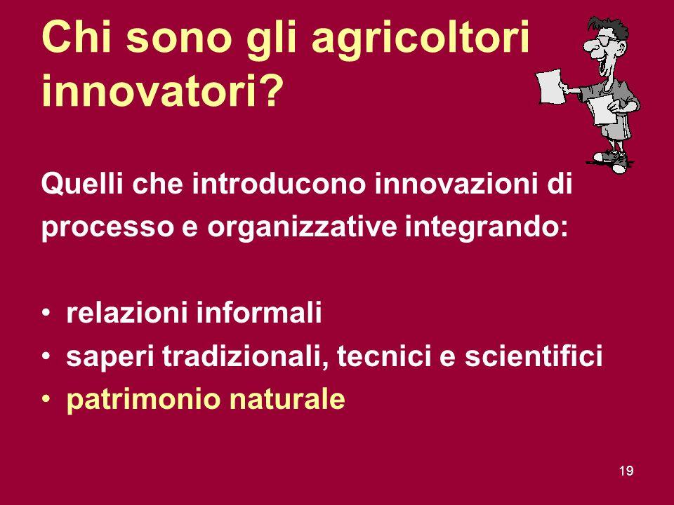 19 Chi sono gli agricoltori innovatori.
