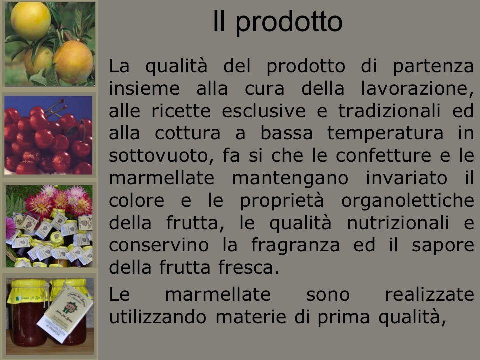 Il prodotto La qualità del prodotto di partenza insieme alla cura della lavorazione, alle ricette esclusive e tradizionali ed alla cottura a bassa tem