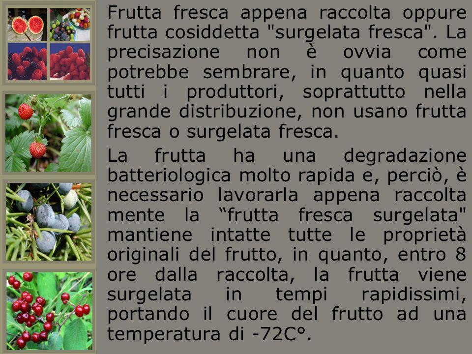 Frutta fresca appena raccolta oppure frutta cosiddetta