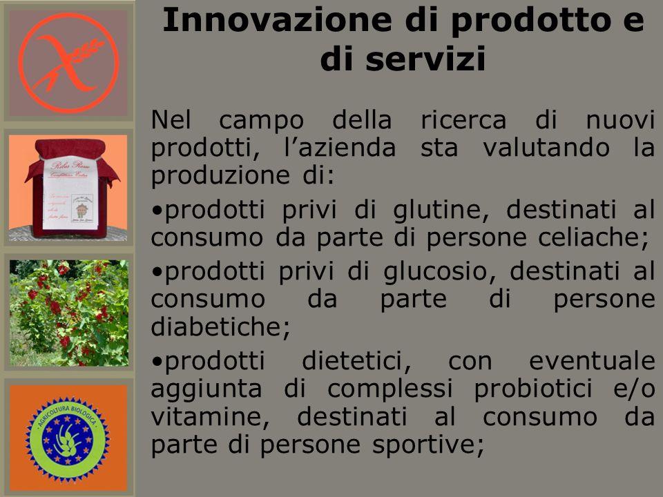 Nel campo della ricerca di nuovi prodotti, lazienda sta valutando la produzione di: prodotti privi di glutine, destinati al consumo da parte di person