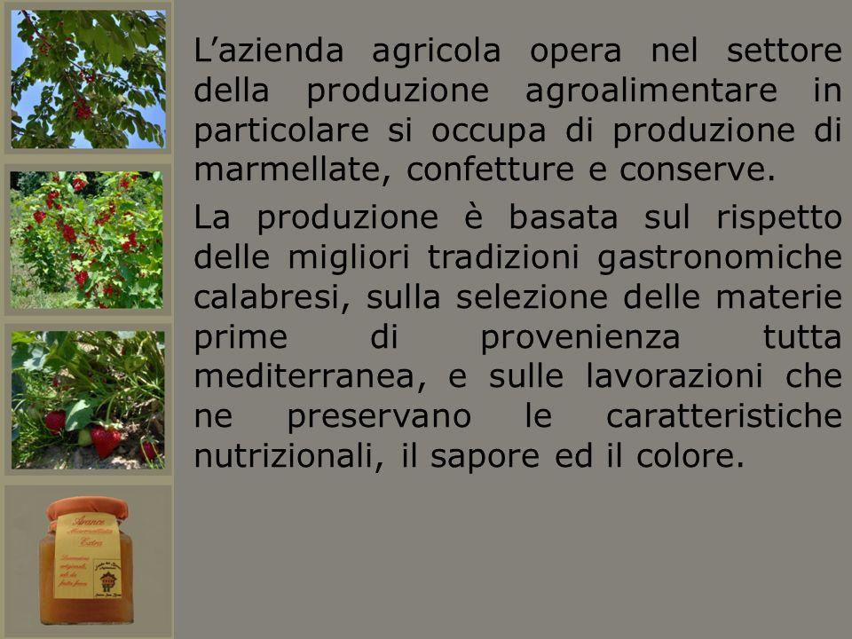 Lazienda agricola opera nel settore della produzione agroalimentare in particolare si occupa di produzione di marmellate, confetture e conserve. La pr