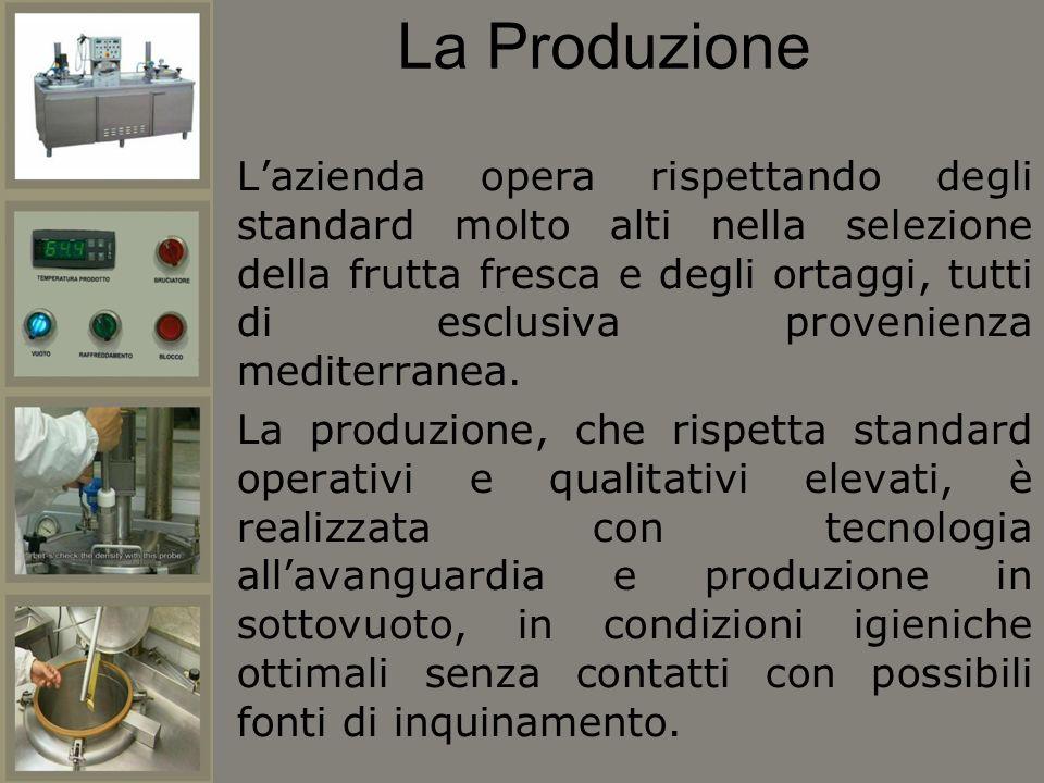 La Produzione Lazienda opera rispettando degli standard molto alti nella selezione della frutta fresca e degli ortaggi, tutti di esclusiva provenienza