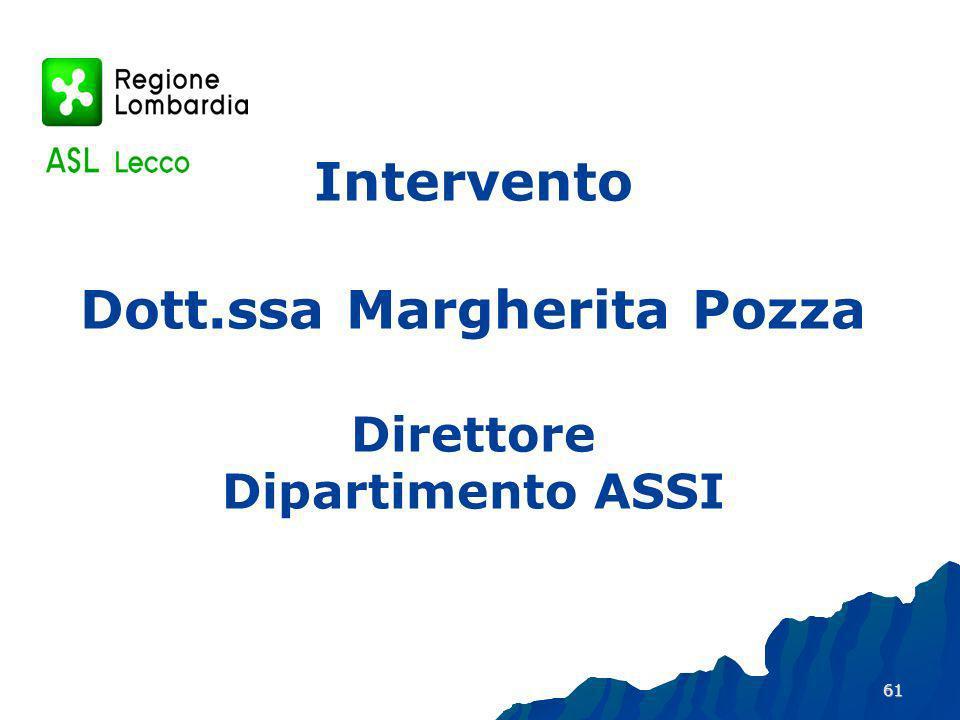 61 Intervento Dott.ssa Margherita Pozza Direttore Dipartimento ASSI
