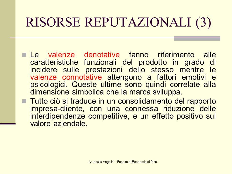 Antonella Angelini - Facoltà di Economia di Pisa Le valenze denotative fanno riferimento alle caratteristiche funzionali del prodotto in grado di inci