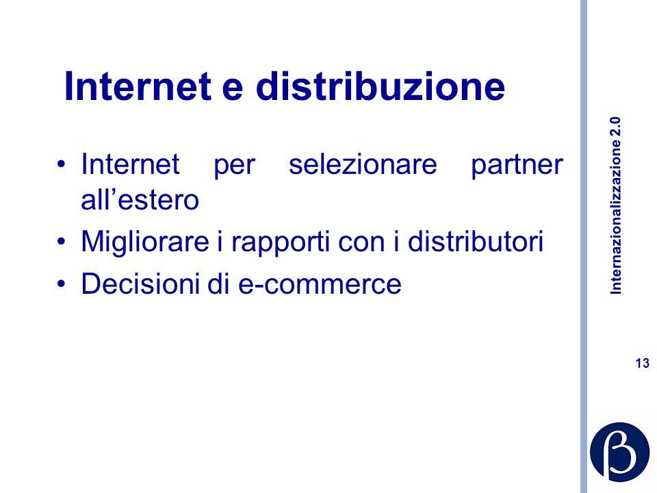 Internazionalizzazione 2.0 12 Nuovi ruoli e nuove competenze dellexport manager Meno valigia e più web.