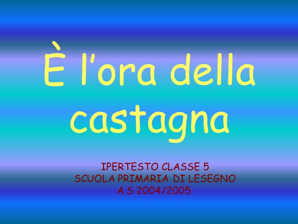 È lora della castagna IPERTESTO CLASSE 5 SCUOLA PRIMARIA DI LESEGNO A.S 2004/2005