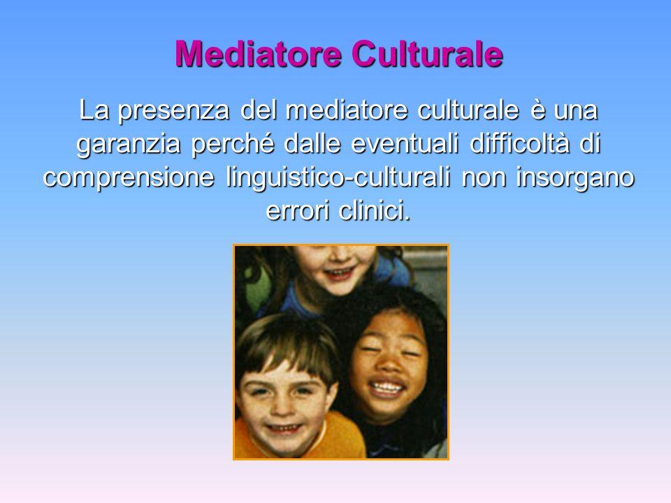 Mediatore Culturale La presenza del mediatore culturale è una garanzia perché dalle eventuali difficoltà di comprensione linguistico-culturali non ins