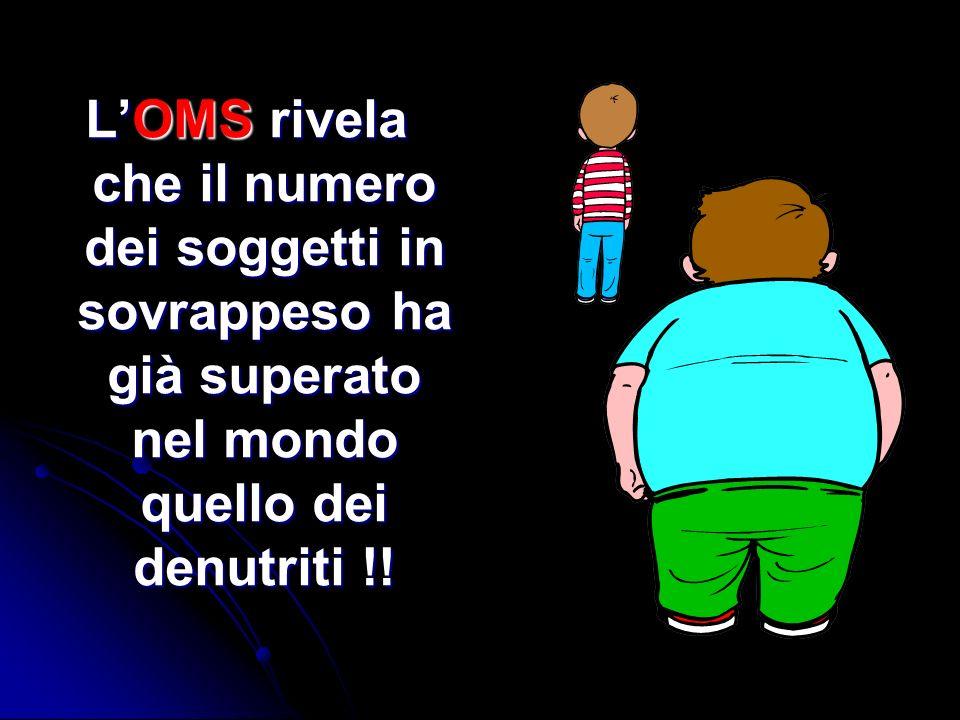 LOMS rivela che il numero dei soggetti in sovrappeso ha già superato nel mondo quello dei denutriti !!