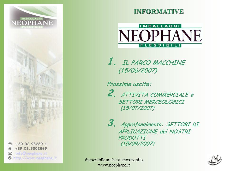 disponibile anche sul nostro sito www.neophane.it +39.02.93269.1 +39.02.9302569 info@neophane.it http://www.neophane.ithttp://www.neophane.it INFORMATIVE 1.