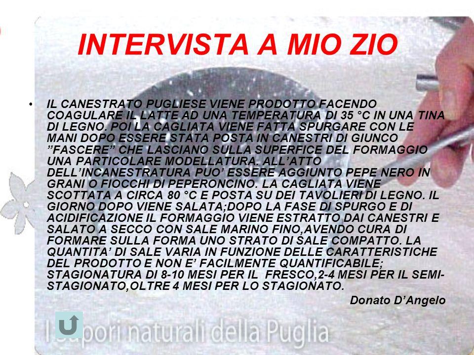 Personaggio intervistato: Teresa Laurenzi Lavoro dellintervistato: esperto di formaggi. Intervistatore: Monticelli Vittorio. Intervista. -il Canestrat
