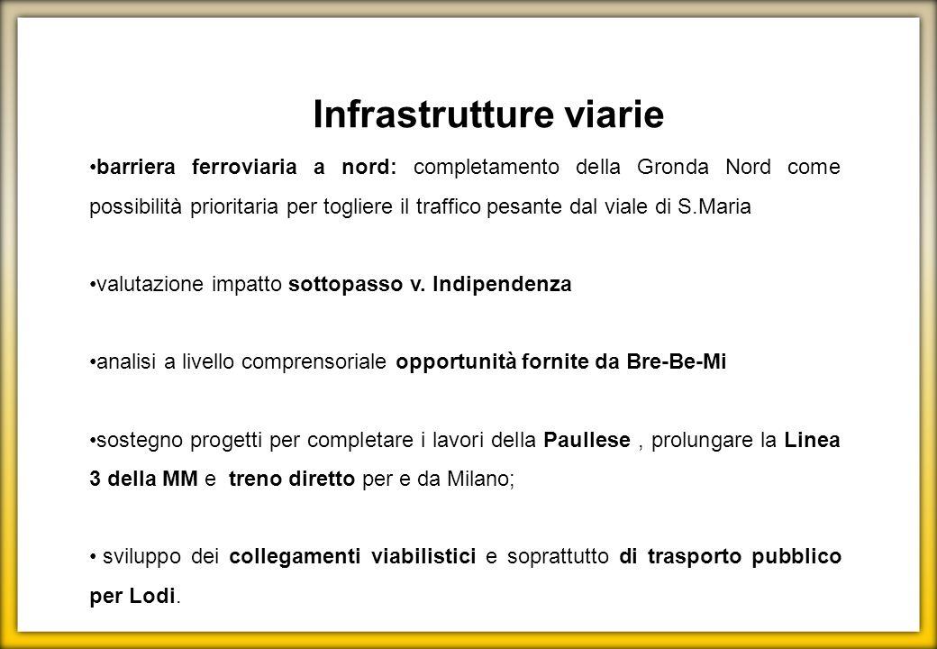Infrastrutture viarie barriera ferroviaria a nord: completamento della Gronda Nord come possibilità prioritaria per togliere il traffico pesante dal v