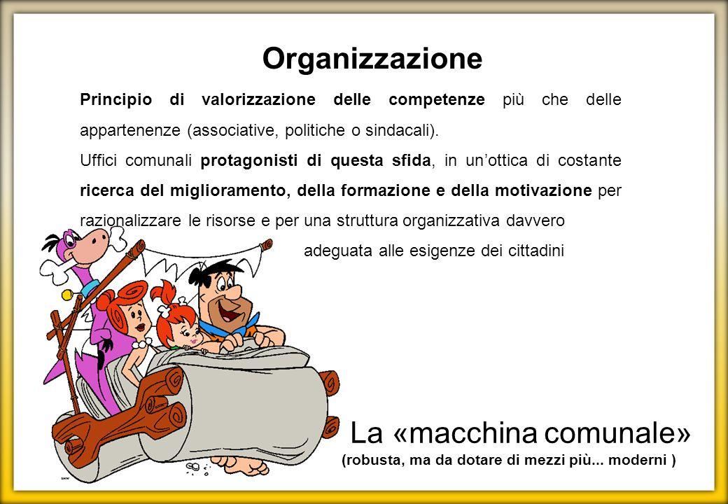 Principio di valorizzazione delle competenze più che delle appartenenze (associative, politiche o sindacali). Uffici comunali protagonisti di questa s