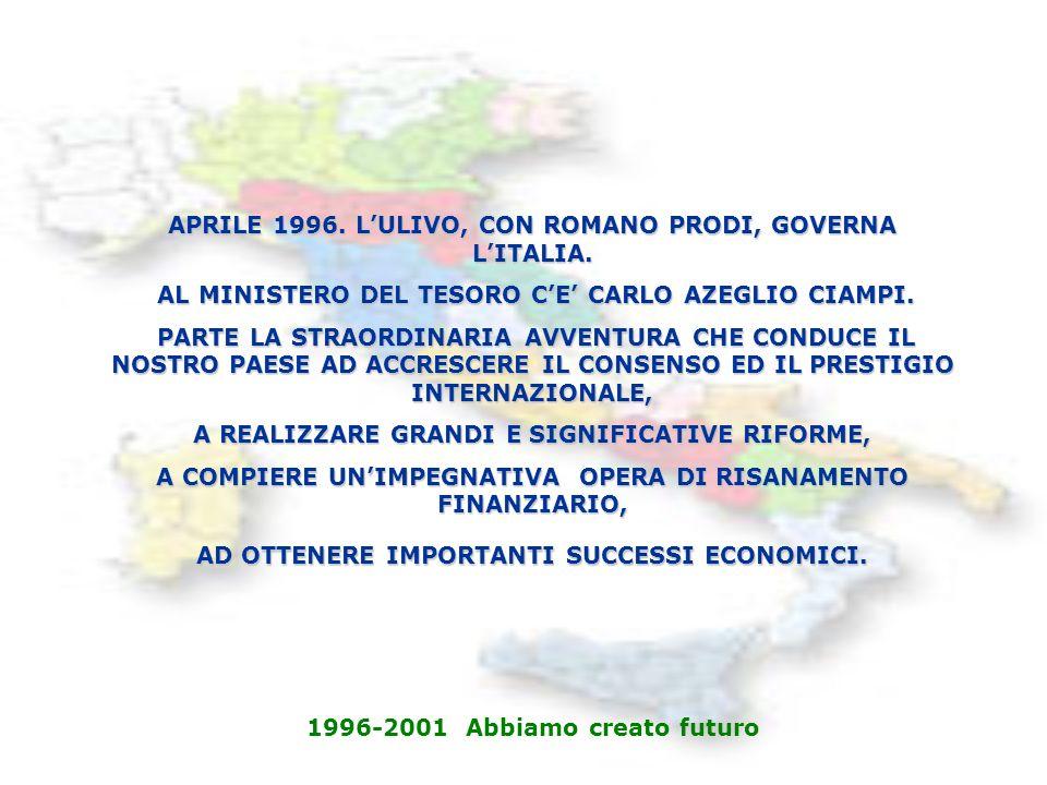 APRILE 1996. LULIVO, CON ROMANO PRODI, GOVERNA LITALIA.