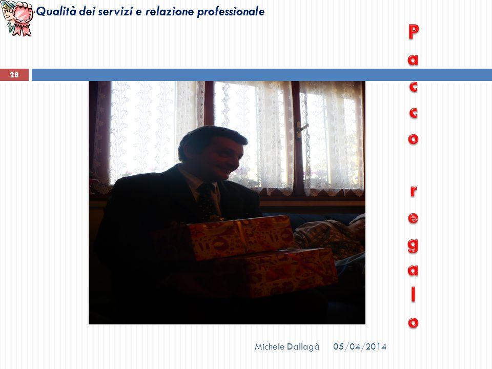 Qualità dei servizi e relazione professionale Michele Dallagà 28 05/04/2014