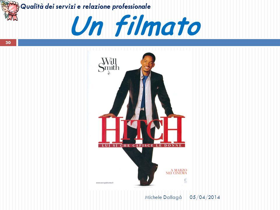 Qualità dei servizi e relazione professionale 05/04/2014Michele Dallagà 30 Un filmato