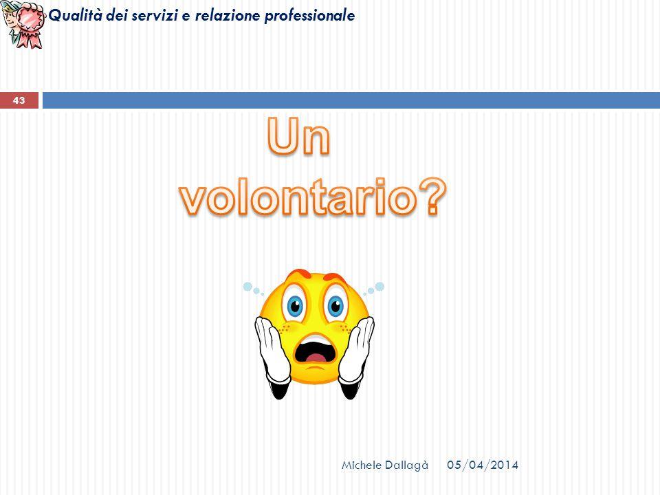 Qualità dei servizi e relazione professionale Michele Dallagà 43 05/04/2014
