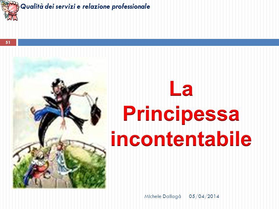 Qualità dei servizi e relazione professionale Michele Dallagà 51 05/04/2014