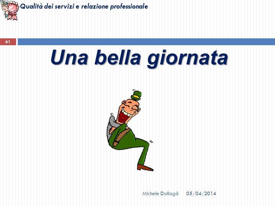 Qualità dei servizi e relazione professionale Michele Dallagà 61 Una bella giornata 05/04/2014