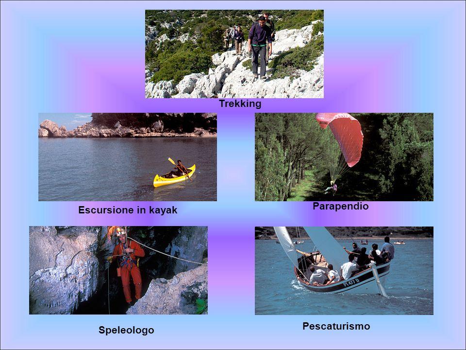Escursione in kayak Parapendio Pescaturismo Speleologo Trekking