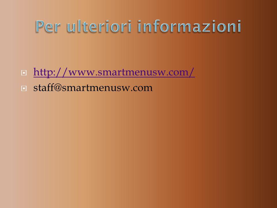 http://www.smartmenusw.com/ staff@smartmenusw.com