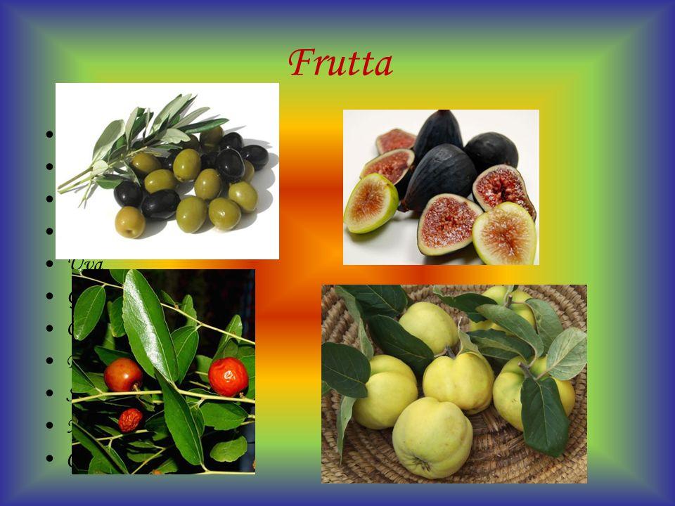 Frutta Mele Arance Bergamotto Carrube Fichi Uva Giuggiole Olive Pere Susine Melograni Cotogne
