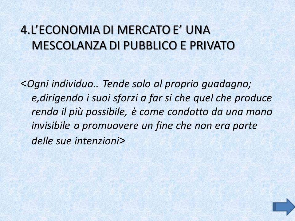 4.LECONOMIA DI MERCATO E UNA MESCOLANZA DI PUBBLICO E PRIVATO