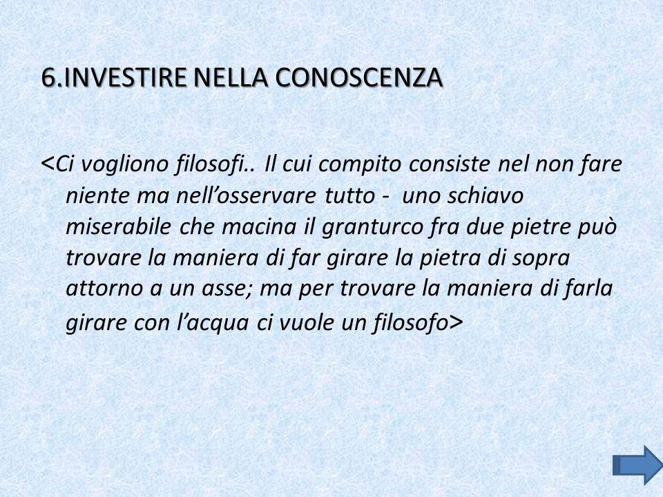 6.INVESTIRE NELLA CONOSCENZA
