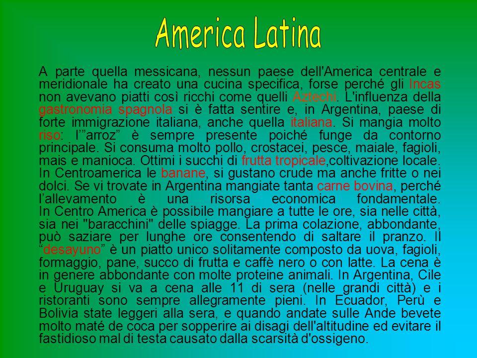 Il Sudamerica è un area geografica enorme che contempla una grande varietà di culture e tradizioni.