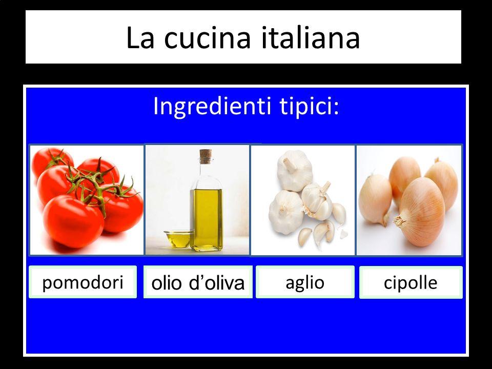 Ingredienti tipici: pomodori olio doliva aglio cipolle
