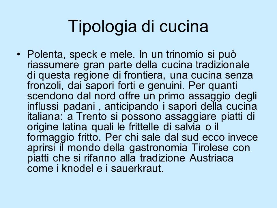 Tipologia di cucina Polenta, speck e mele.