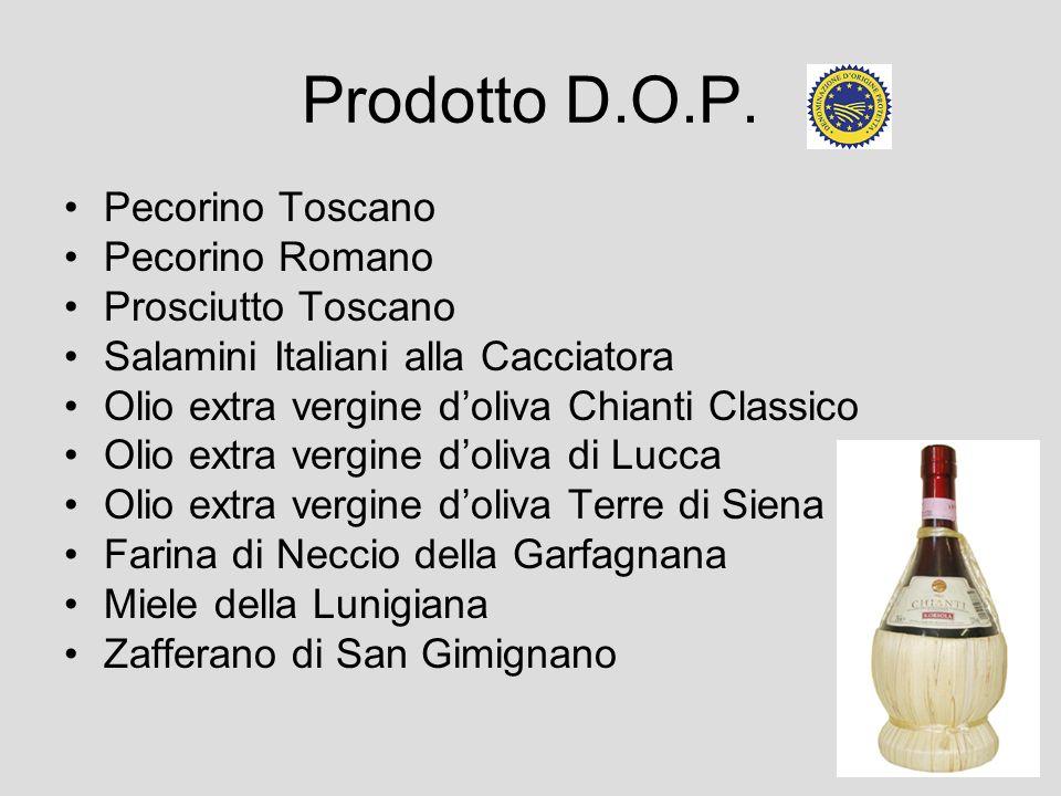 Prodotto D.O.P. Pecorino Toscano Pecorino Romano Prosciutto Toscano Salamini Italiani alla Cacciatora Olio extra vergine doliva Chianti Classico Olio