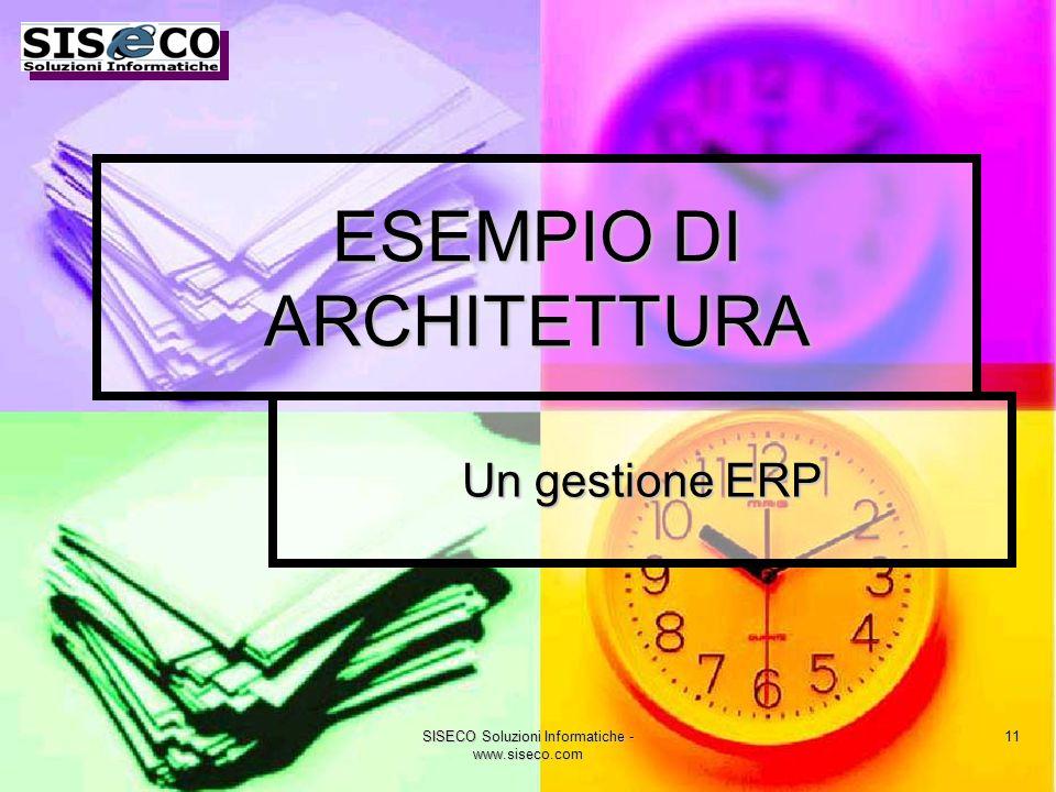 SISECO Soluzioni Informatiche - www.siseco.com 11 ESEMPIO DI ARCHITETTURA Un gestione ERP