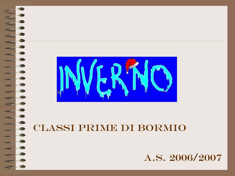 Classi prime di bormio A.S. 2006/2007