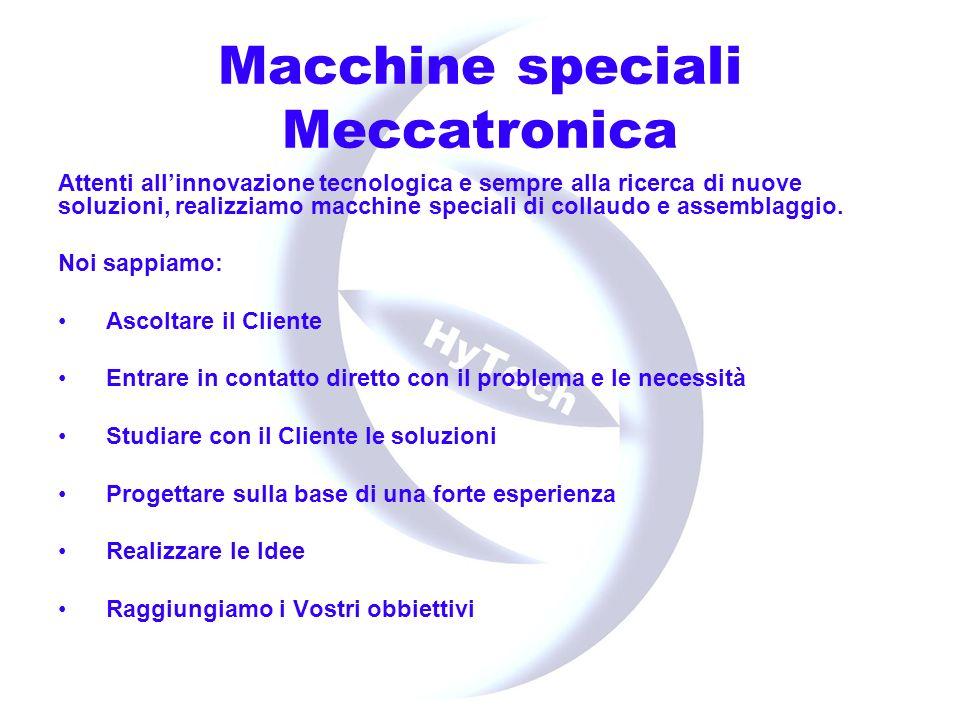 Macchine speciali Studio fattibilità Calcoli tecnici Dimensionamenti