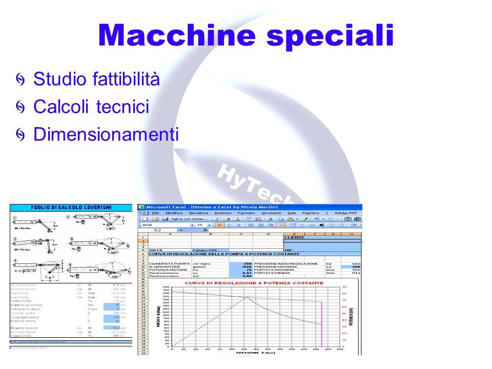 Macchine speciali Disegni strutturali Cad 2D e 3D Schemi Elettrici Schemi Oleodinamici Distinte basi Pianificazione