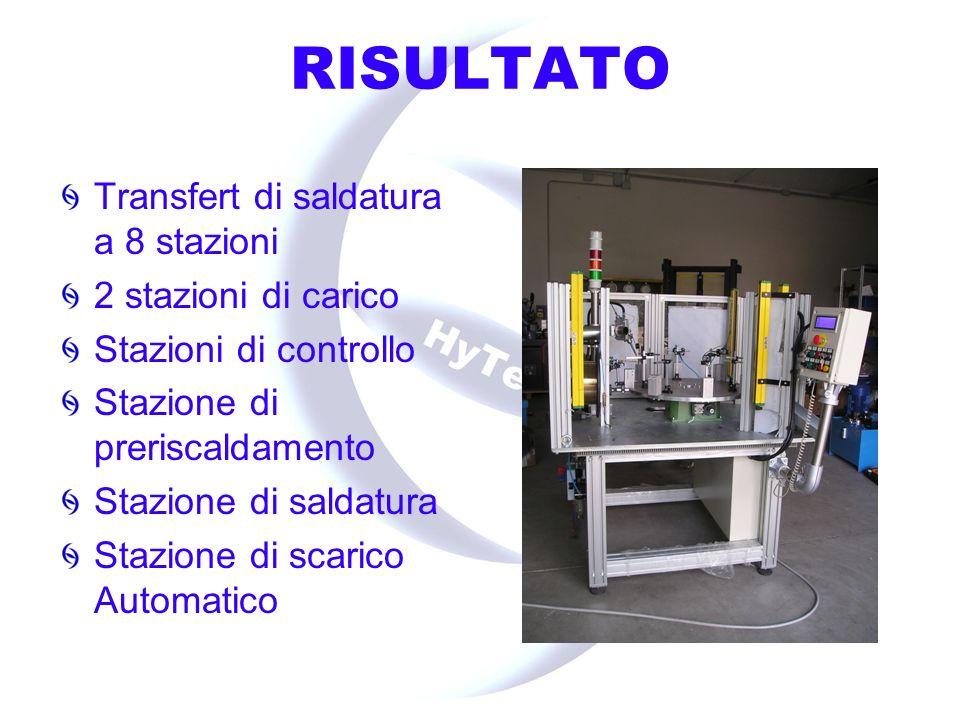 RISULTATO Macchina collaudo escavatori : Attrezzatura per prove di convergenza e sincronismo su trasmissione idrostatica ruote