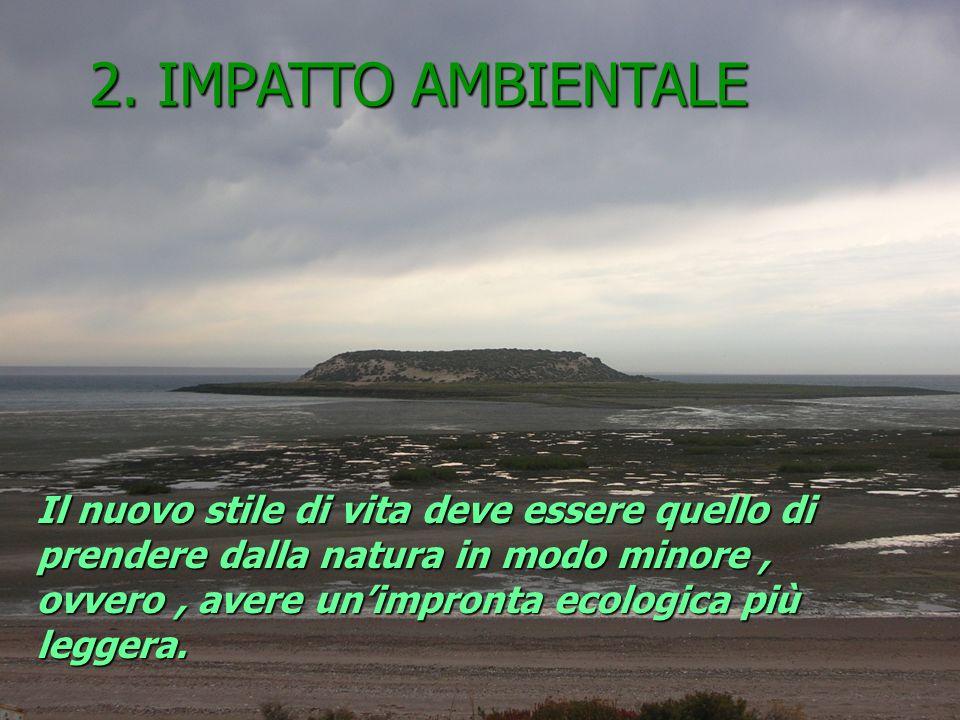 Il nuovo stile di vita deve essere quello di prendere dalla natura in modo minore, ovvero, avere unimpronta ecologica più leggera.