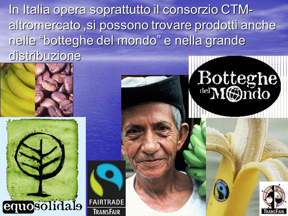In Italia opera soprattutto il consorzio CTM- altromercato,si possono trovare prodotti anche nelle botteghe del mondo e nella grande distribuzione