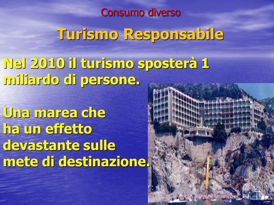 Turismo Responsabile Turismo Responsabile Nel 2010 il turismo sposterà 1 miliardo di persone.