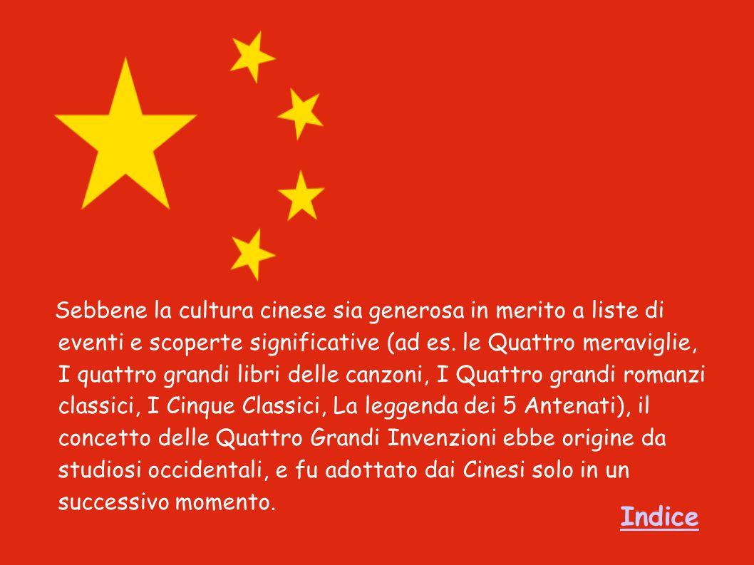 Sebbene la cultura cinese sia generosa in merito a liste di eventi e scoperte significative (ad es.