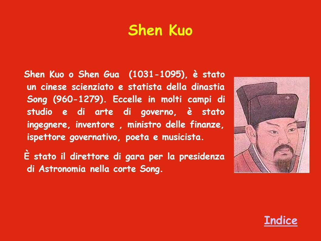 Shen Kuo Shen Kuo o Shen Gua (1031-1095), è stato un cinese scienziato e statista della dinastia Song (960-1279).